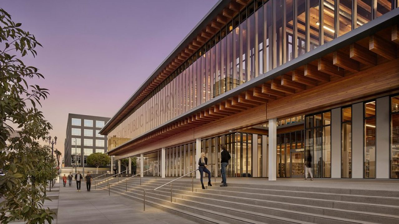 BILLIE JEAN KING MAIN LIBRARY – AWARD-WINNING ECO-FRIENDLY BUILDING REVEALS DIVERSITY OF SUSTAINABLE AMERICAN HARDWOOD
